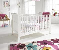 modern minimalist white and pink ascent colors nursery room