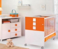 modern orange theme colors baby nursery furniture by cambarss