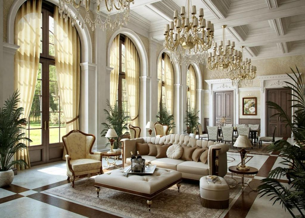 Modern royal living room victorian french style interior for Modern victorian living room designs