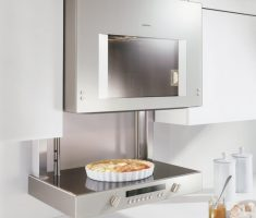 modern silver wall mounted appliances for small apartment