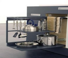 modern sliding cabinet deck for small appliances for small apartments