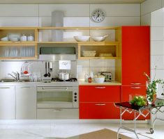 modern small kitchen cabinet for small space decoration