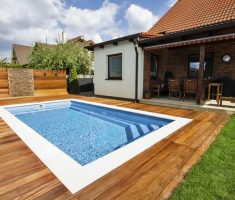 modern small rectangle inground swimming pools