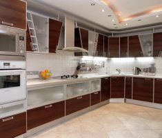 modern stylish kitchen design with cool cabinet kitchen design with glass l shaped