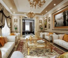 modern-victorian-style-interior-design-gilded-age-living-room-area-with-gold-warm-theme-colors