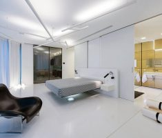 modern-white-bedroom-for-men-with-floating-bed-and-modern-decor