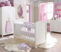 modern white and pink modern baby girl rooms colors theme with diamond chandelier