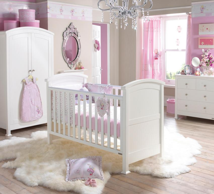 modern-white-and-pink-modern-baby-girl-rooms-colors-theme-with-diamond-chandelier