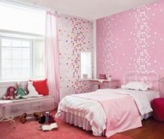 mosaic pink wall stickers girls bedrooms themes