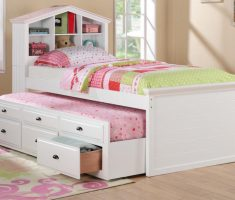 multifunction double bed white bedroom furniture for girls with drawer cabinet