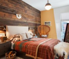 natural-masculine-bedroom-for-men-wooden-wall-decor