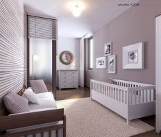 neat and minimalist modern baby girl rooms