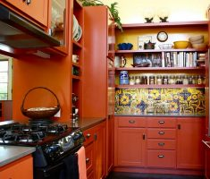 neat and modern mexican kitchen interior design for small mexican kitchen space