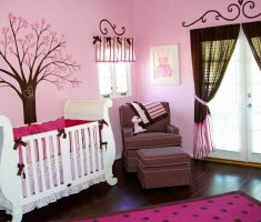 nice baby girl rooms pink and brown theme nursery colors decoration