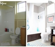 nice bright small bathroom remodeling before and after remodel
