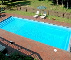 Simple minimalist inground swimming pools with slides for for Nice inground pools