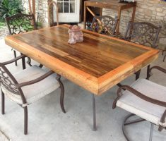 nice recycled wood furniture for dining table patio