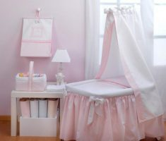 pink and white baby nursery furniture by cambarss