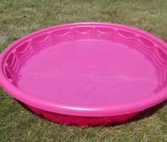 pink hard plastic garden pool for kids