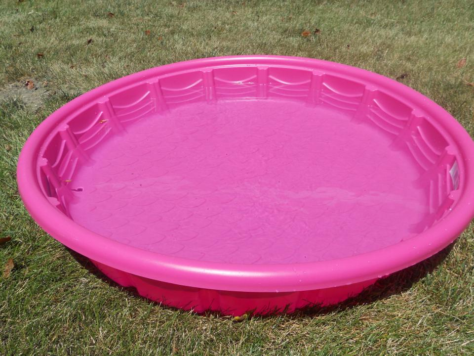 pink hard plastic garden pool for kids home inspiring