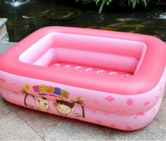 pink inflantable plastic garden pool for kids and baby