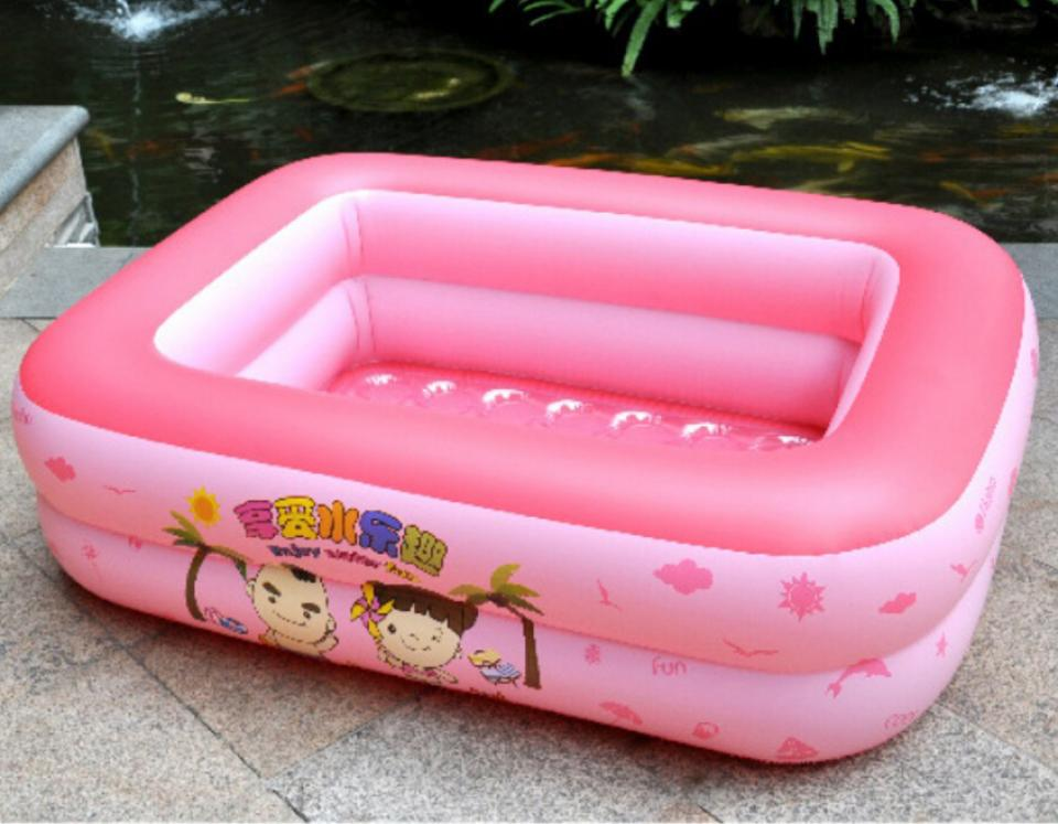 Pink inflantable plastic garden pool for kids and baby for Plastic garden pool