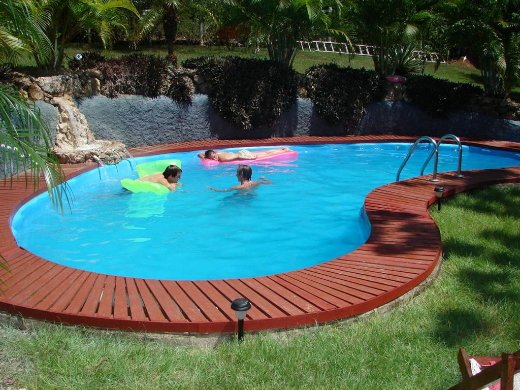 simple minimalist inground swimming pools with slides for small