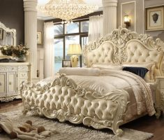 queen royal tufted headboard bedroom set for modern master bedroom