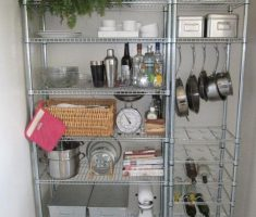rack and classic small appliances for small apartments