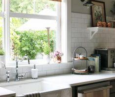 rattan rolled cutain kitchen window treatment ideas