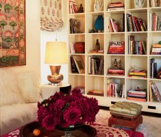 reading room are with bohemian interior design ideas