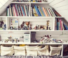 reading room on attic storage ideas with book shelves