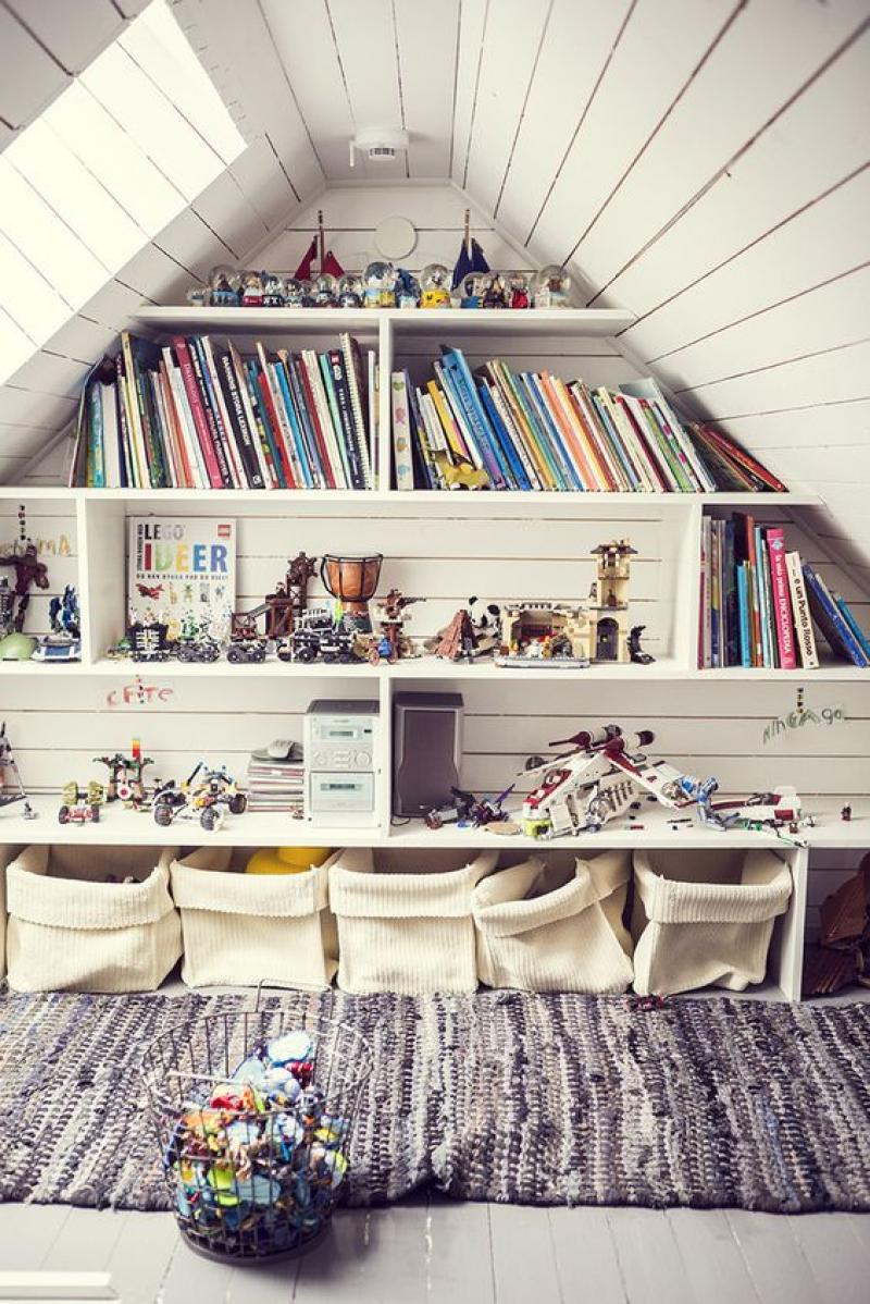 attic storage room ideas - reading room on attic storage ideas with book shelves