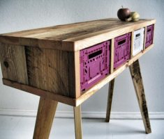 reclaimed recycled wood furniture for table