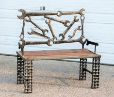 recycled metal furniture for chair