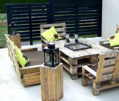 recycled pallet wood furniture for chairs set