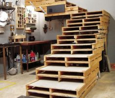 recycled pallet wood furniture for stairs