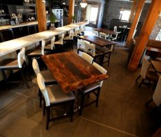 recycled restaurant furniture from reclaimed wood materials