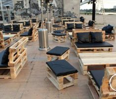recycled restaurant furniture from remarkable pallet material