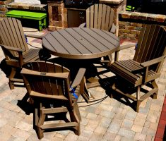 recycled restaurant furniture patio