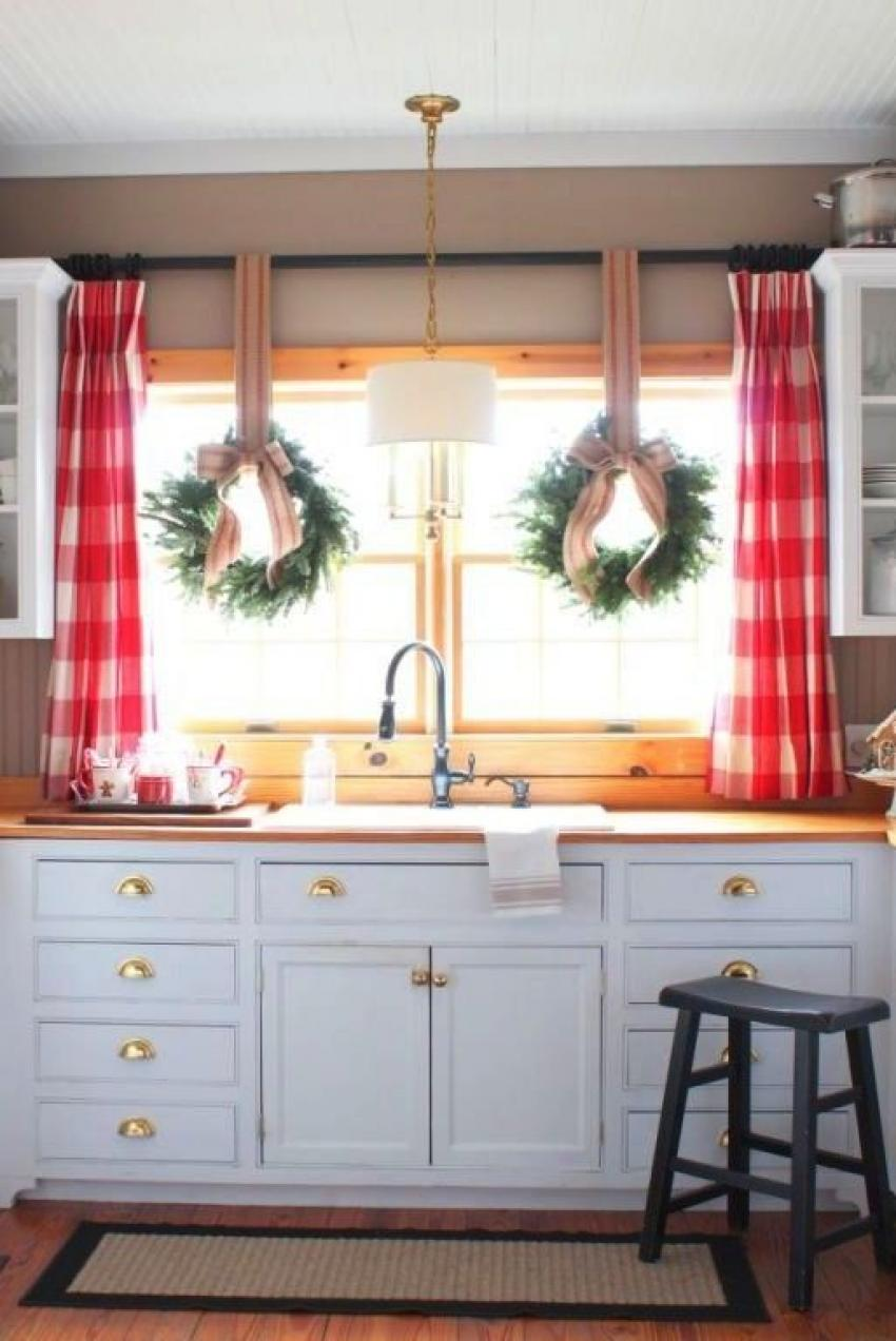 30 kitchen window treatment ideas for decoration - Window treatment ideas for kitchen ...