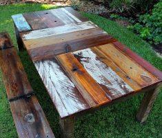 remarkable wooden table from recycled wood furniture
