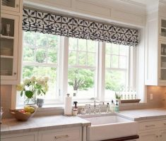 rolled curtain for kitchen window treatment ideas