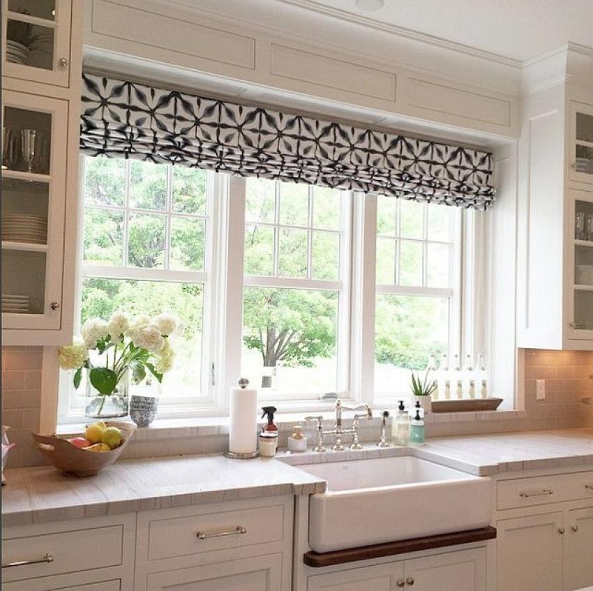 Kitchen Window Curtain Idea: 30 Kitchen Window Treatment Ideas For Decoration