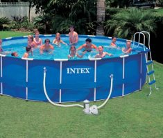 round big plastic garden pool for family