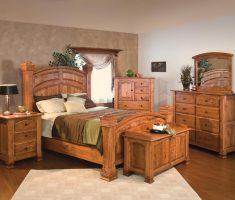 rustic broyhill bedroom furniture with ottoman