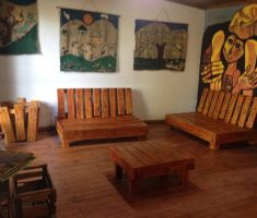 rustic and classic reclaimed recycled wood furniture for wood living room