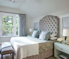 rustic classic grey headboard bedroom ideas