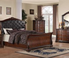 rustic cushion headboard bedroom sets with wooden bedroom furniture