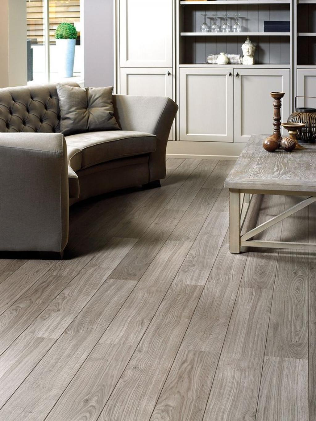 Rustic grey living room modern house for Best laminate flooring for bedrooms